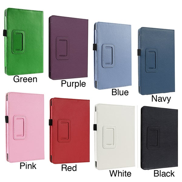 Insten Folio Flip Leather Fabric Case with Stand for Amazon Kindle Fire 1/ 2
