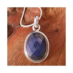 Sterling Silver 'Blue Destiny' Lapis Lazuli Necklace (India)