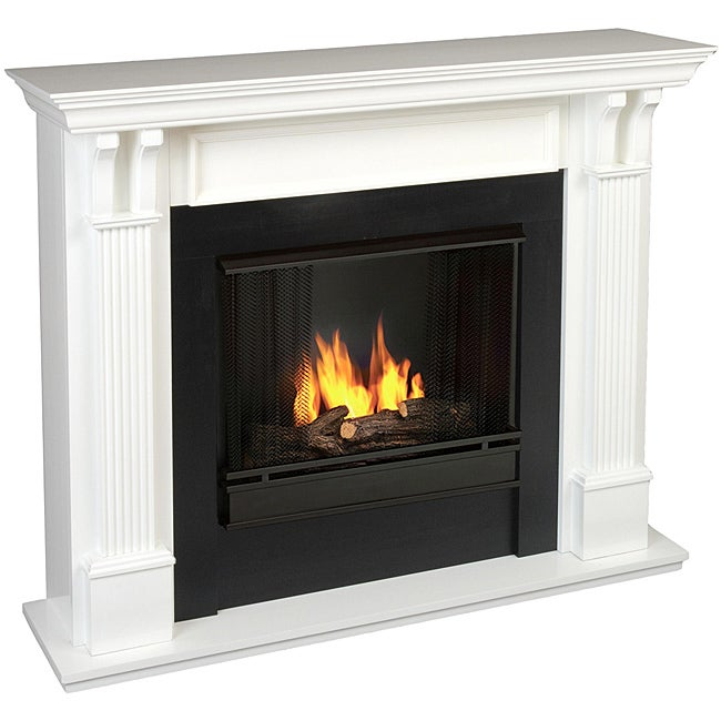 Real Flame Ashley White Gel Fireplace