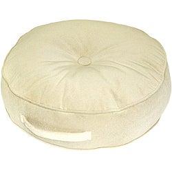 Cream Microfiber 20-inch Round Floor Pillow