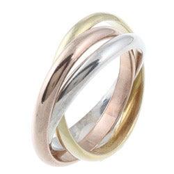 La Preciosa Tri-color Sterling Silver Interlocking Ring