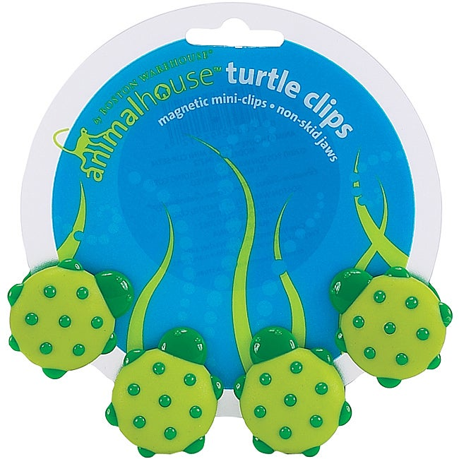 Animal House Turtle Magnetic Mini Clips (Set of 4)