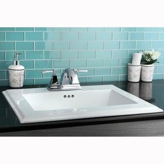 Surface Mount 4-inch Center Bathroom Sink
