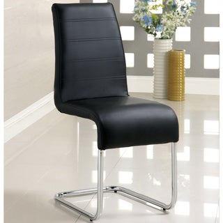 Furniture of America Alta Leatherette Dining Chairs (Set of 4)