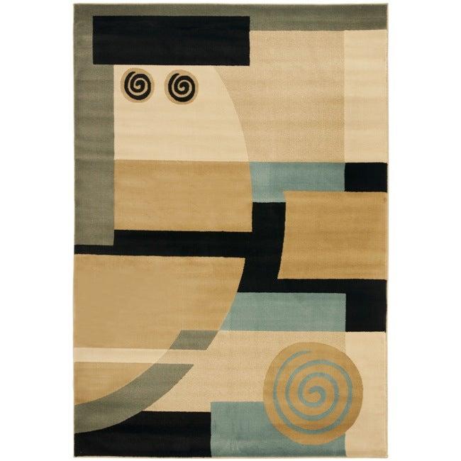 Safavieh Porcello Deco Blue/ Multi Rug (8' x 11'2)