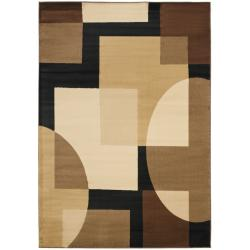 Safavieh Porcello Deco Brown/ Multi Rug (8' x 11' 2)