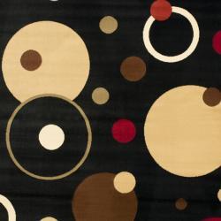 Safavieh Porcello Cosmos Black Rug (4' x 5' 7)