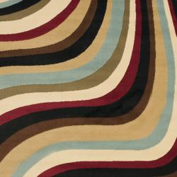 Safavieh Porcello Waves Blue/ Multi Rug (4' x 5'7)