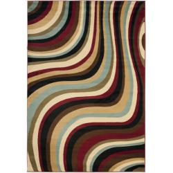 Safavieh Porcello Waves Blue/ Multi Rug (8' x 11' 2)