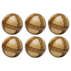 Red Vanilla Nature Sphere Corn Husk 4-inch Ball (Set of 6)