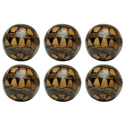 Red Vanilla Nature Sphere Elephant Seeds 4-inch Ball (Set of 6)