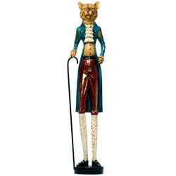 Red Vanilla Decorative 24.75-inch Leopard Figurine