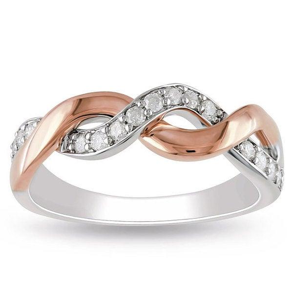 Miadora 10k Two-tone Gold 1/4ct TDW Diamond Ring (H-I, I2-I3)