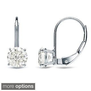 Auriya 14k Gold 1/2ct TDW Diamond Leverback Earrings (K-L, I2)