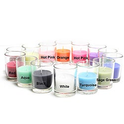 Round Glass 10-hour Votive Candles (Case of 96)