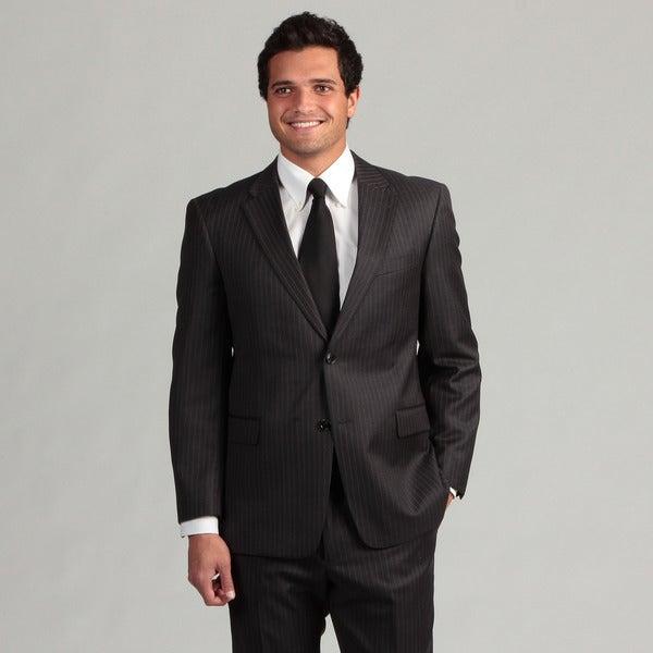 Tommy Hilfiger Men's Charcoal Pinstripe Wool Suit