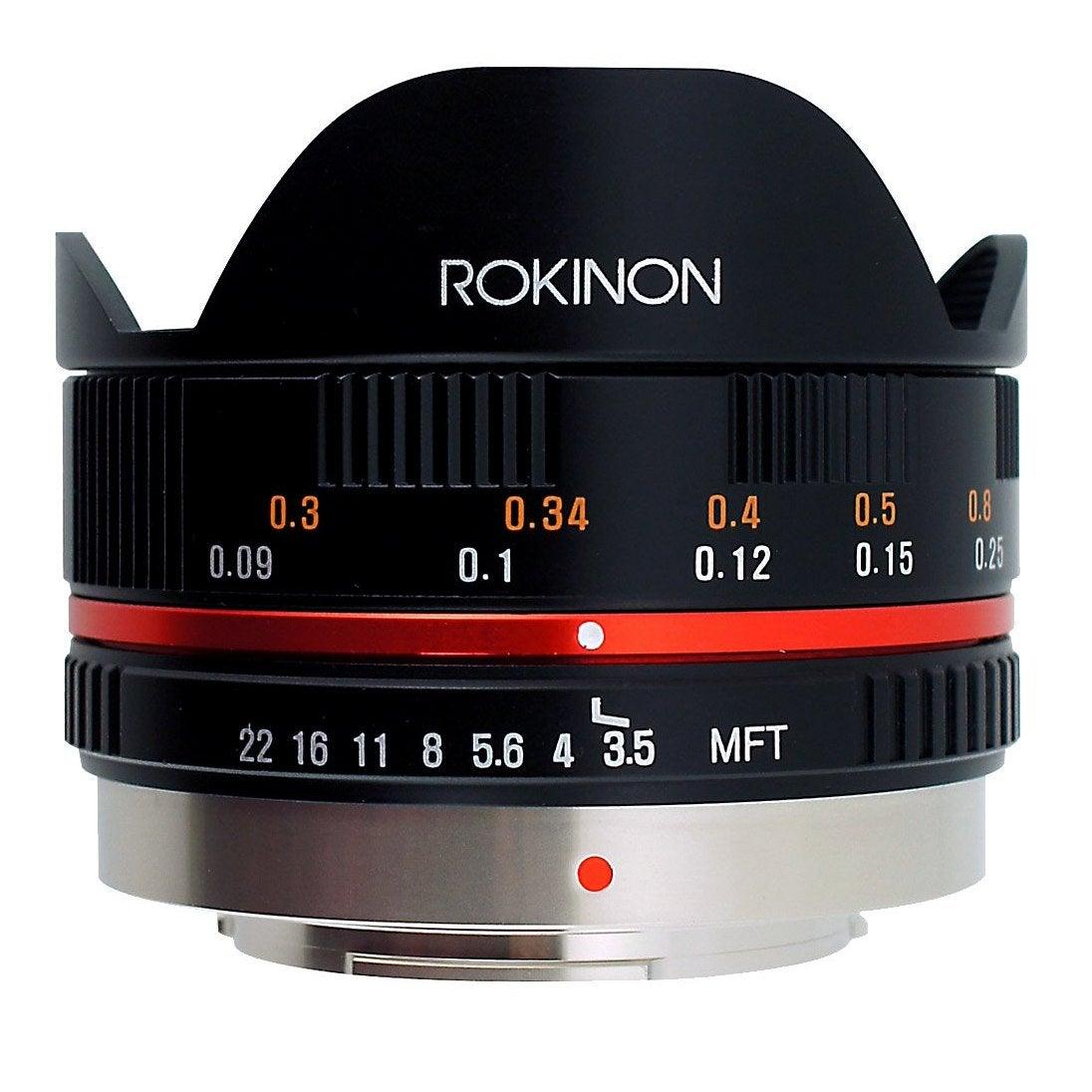 Rokinon FE75MFT-B 7.5mm F3.5 UMC Fisheye Lens for Micro Four Thirds