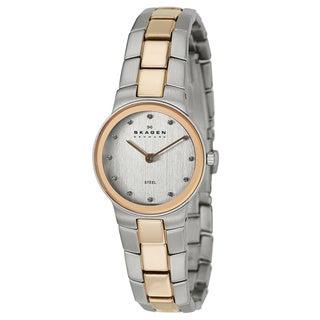 Skagen Women's 430SSRX Two-tone Stainless Steel Crystal Dial Watch