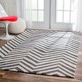Handmade Alexa Chevron Wool Rug (6&#39; x 9&#39;)