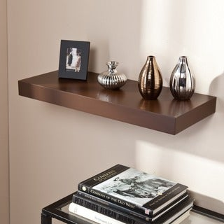 Upton Home Tampa 24-inch Espresso Floating Shelf