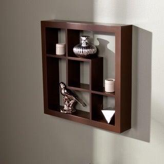 Carrington Espresso 16-inch Display Shelf