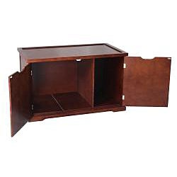 Merry Products Walnut Kitty Condo Bench / Litter Box Enclosure
