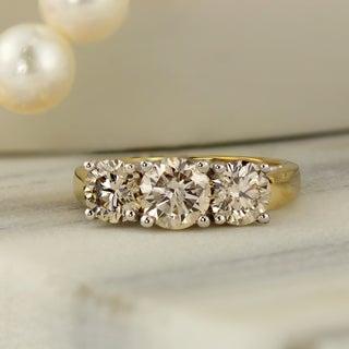 Auriya 14k Gold 2ct TDW Diamond 3-stone Engagement Ring (I-J, I1-I2)
