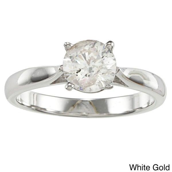 14k Gold 1ct TDW Diamond Solitaire Engagement Ring (J-K, I2-I3)