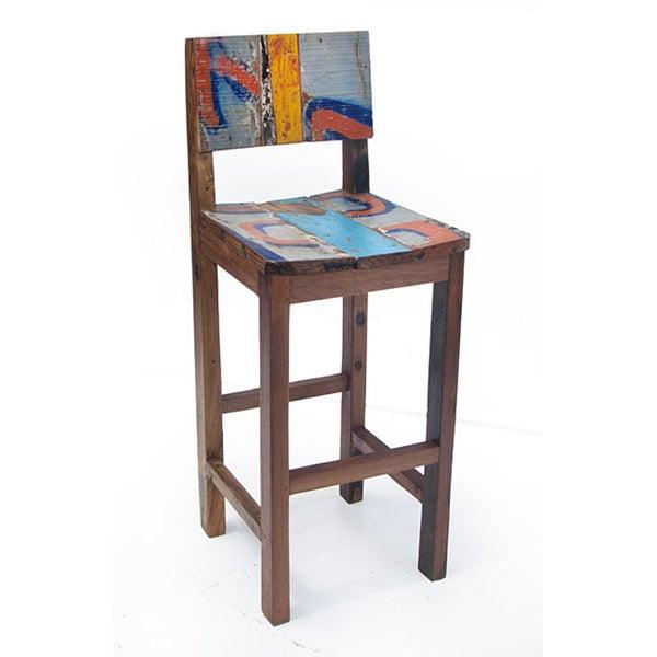 Ecologica Furniture Reclaimed Wood Bar Stool