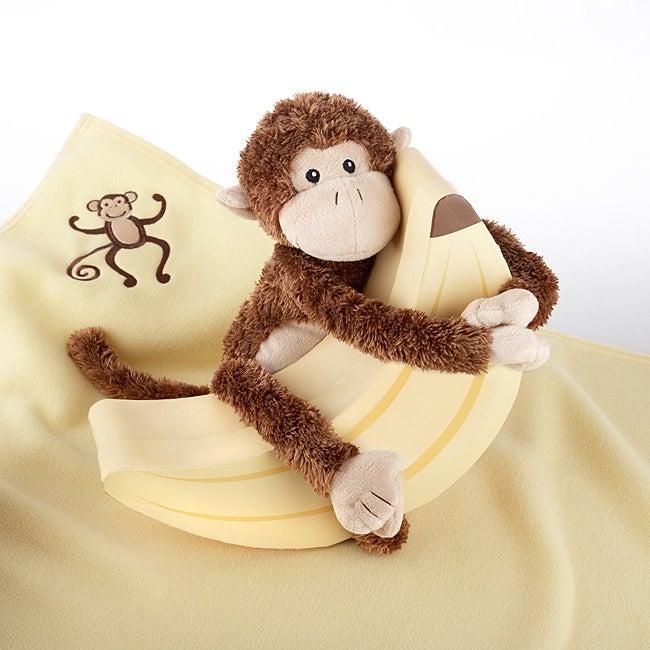 Baby Aspen Plush 'Monkey Magoo and Blankie Too' in Keepsake Banana Gift Box