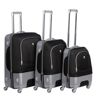 Olympia Hybrid Luggage - Majestic 3 Piece Spinner Luggage Set (HF7300)