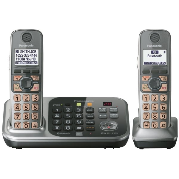 Panasonic DECT 6.0 1.90 GHz Cordless Phone - Silver