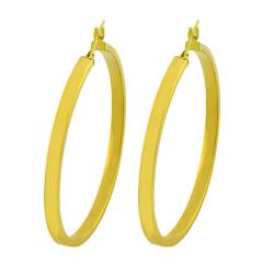 Fremada 10k Yellow Gold 41-mm Flat Hoop Earrings