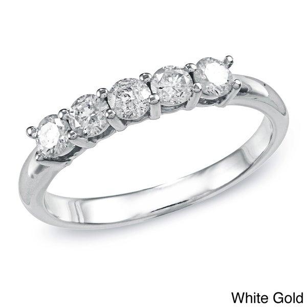 Auriya 10k Gold 1/2ct TDW Diamond 5-stone Wedding Band (J-K, I2)