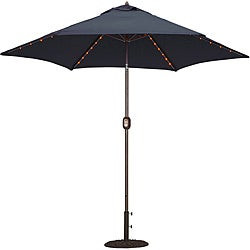 TropiShade 9-foot Navy Aluminum Bronze Lighted Market Umbrella
