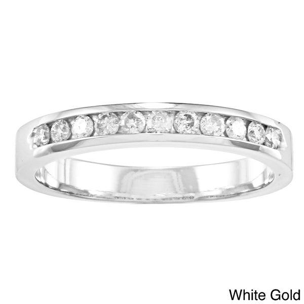 Auriya 10k Gold 1/4ct TDW Diamond Channel-set Wedding Band (J-K, I2-I3)