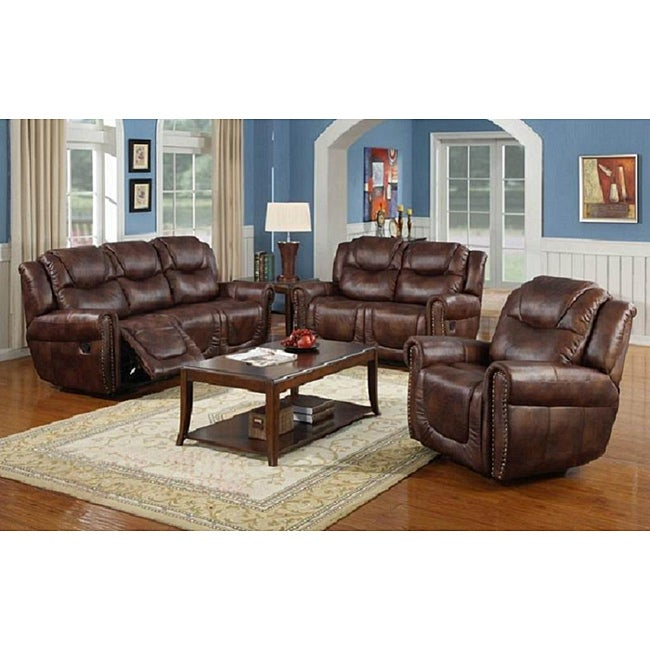 Witiker Brown Reclining Sofa Set