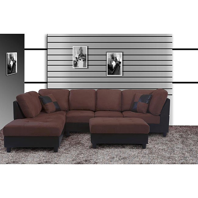 Jameson Microfiber Right Arm Facing Sectional