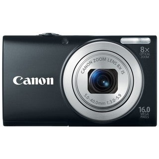 Canon PowerShot A4000IS 16MP Black Digital Camera