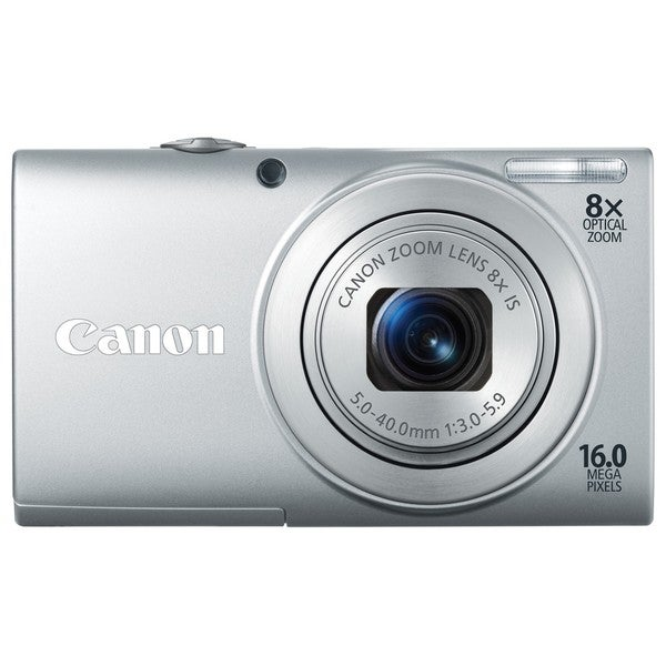 Canon PowerShot A4000IS 16MP Silver Digital Camera