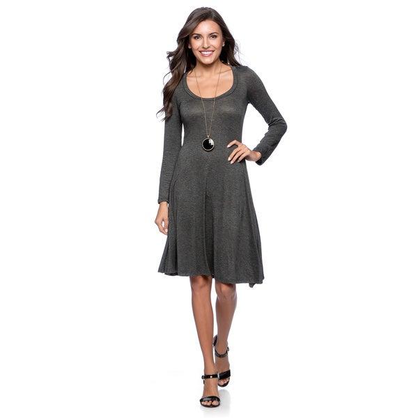 24/7 Comfort Apparel Women's Long-sleeve Dress