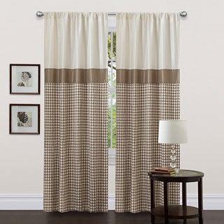 Lush Decor Taupe 84-inch Waldorf Curtain Panel
