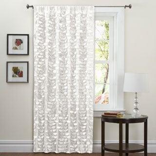 Lush Decor White 84-inch Lilian Curtain Panel