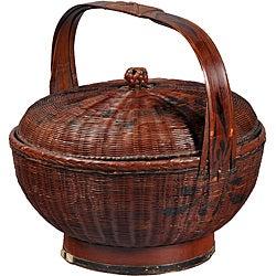 Wood Alms Basket