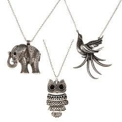 Silvertone Rhinestone Antique Necklace (Thailand)