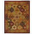 Safavieh Handmade Diamond Bakhtiari Multi/ Red Wool Rug (9' x 12')