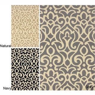 nuLOOM Handmade All Over Damask Wool Rug (7'6 x 9'6)