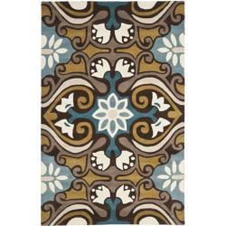 Safavieh Handmade Chatham Enchant Blue New Zealand Wool Rug (4' x 6')