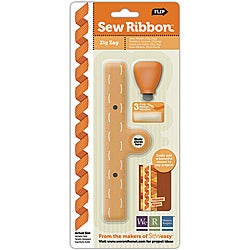 We R Memory Keepers Sew Ribbon Zig Zag Stencil and Tool