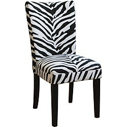 Zebra Print Parsons Chairs (Set of 2)
